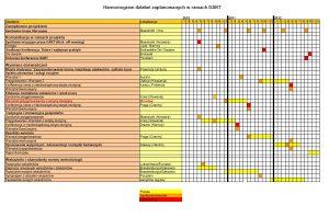 Harmonogram działań zaplanowanych w ramach DART
